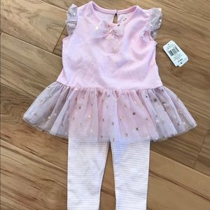 Other - Matching pink and gold outfit 12 months